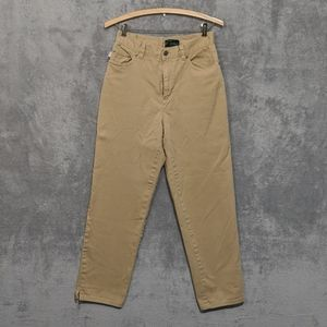 Ralph Lauren tan khaki high waisted mom jeans